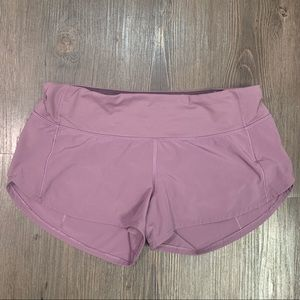 "Lululemon Speed Up Shorts 2.5"" 4 Regular"